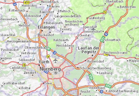 Karte Stadtplan Heroldsberg