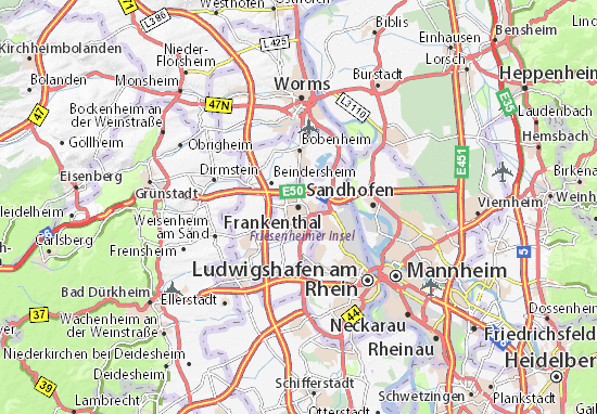 Carte-Plan Frankenthal