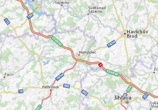 Humpolec Map