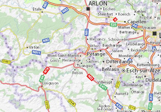 Carte-Plan Mont-Saint-Martin