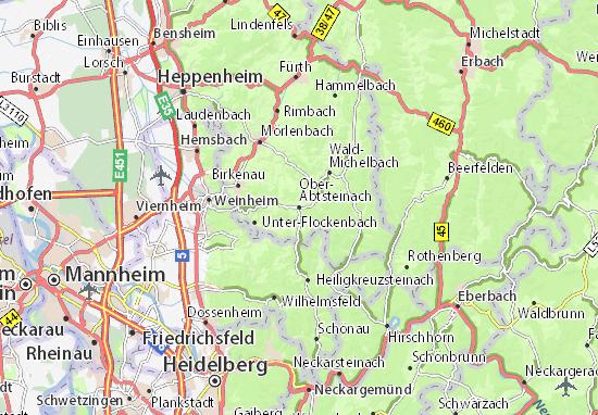 Kaart Plattegrond Ober-Abtsteinach