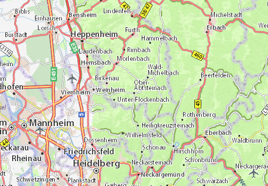 Carte-Plan Ober-Abtsteinach