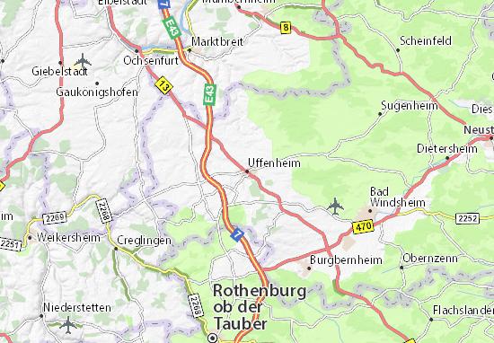 Karte Stadtplan Uffenheim