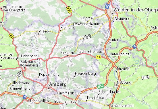 Karte Stadtplan Schnaittenbach