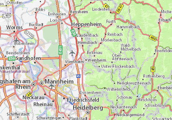 Weinheim Map