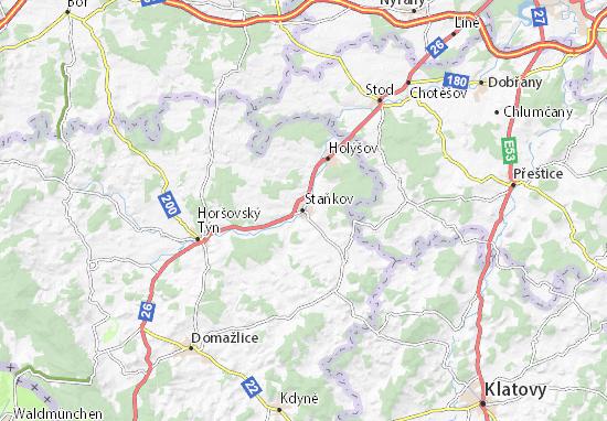Staňkov Map