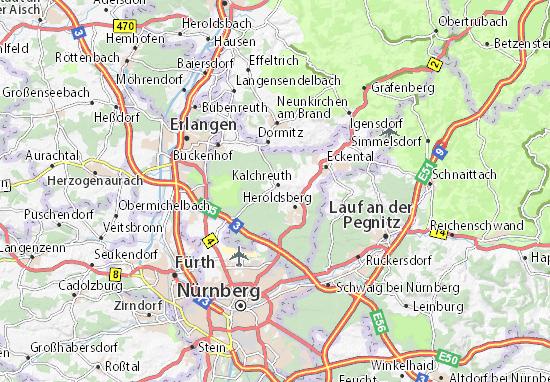 Stettenberg Map Detailed Maps For The City Of Stettenberg - Erlangen map