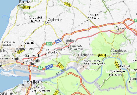 Gruchet-le-Valasse Map