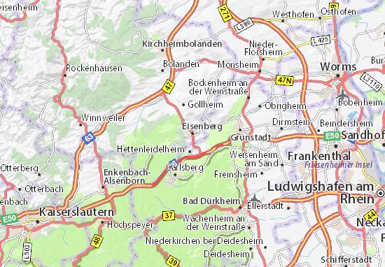 Karte Stadtplan Eisenberg