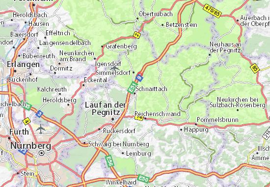 Karte Stadtplan Schnaittach