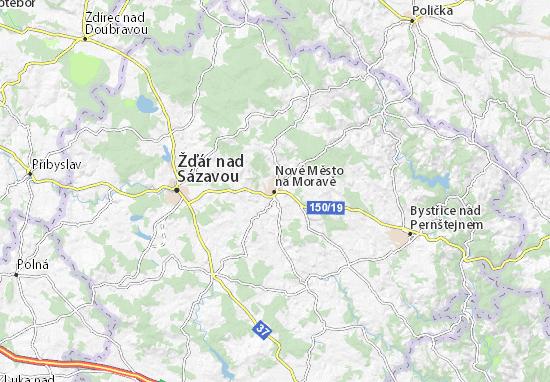 Nové Město na Moravě Map