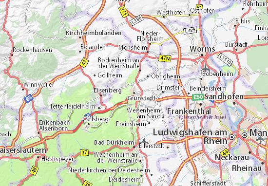 Carte-Plan Grünstadt