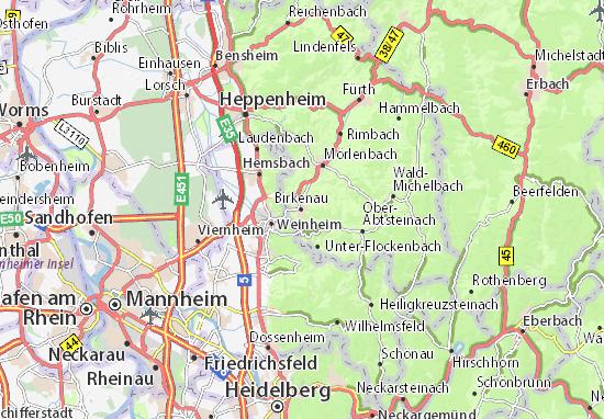 Karte Stadtplan Birkenau