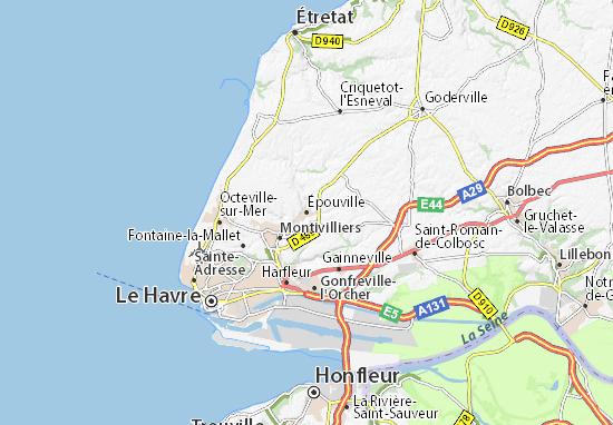 Karte Stadtplan Épouville