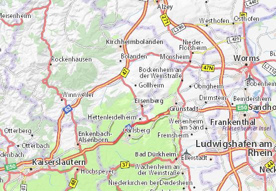 Karte Stadtplan Kerzenheim