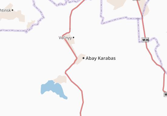 Carte-Plan Abay Karabas