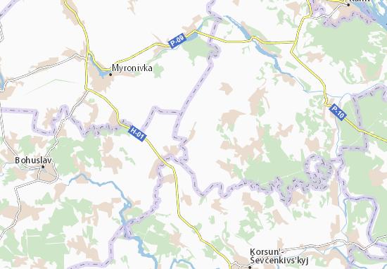 Mapas-Planos Pavlivka