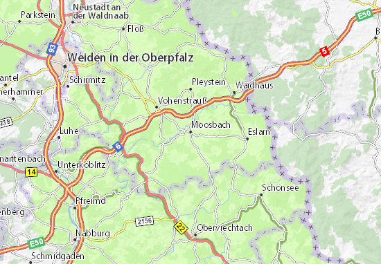 Moosbach Map