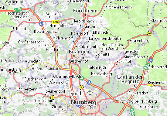 Buckenhof Map