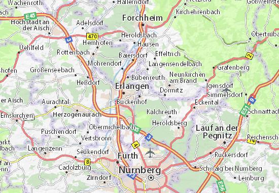 Karte Stadtplan Buckenhof