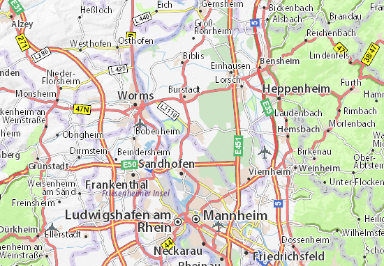 Mapas-Planos Lampertheim