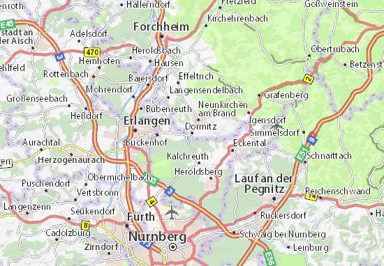 Karte Stadtplan Dormitz