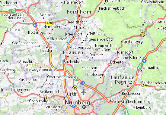 Karte Stadtplan Uttenreuth