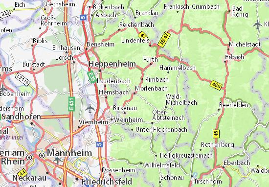 Kaart Plattegrond Mörlenbach