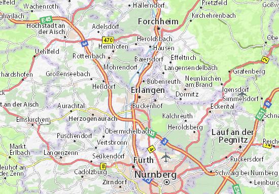 Erlangen Map