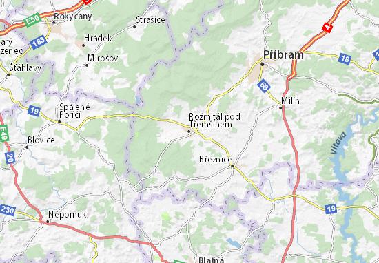 Mapas-Planos Rožmitál pod Třemšínem