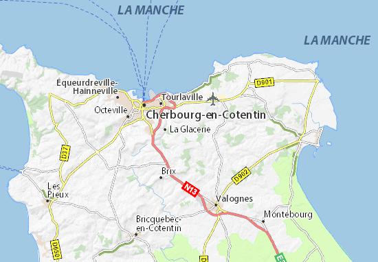 Map of Le Mesnil-au-Val - Michelin Le Mesnil-au-Val map - ViaMichelin