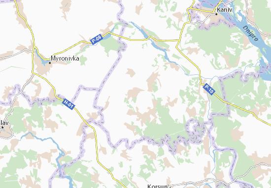 Mapa Plano Berkozivka
