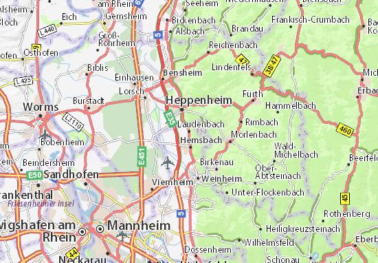 Kaart Plattegrond Laudenbach