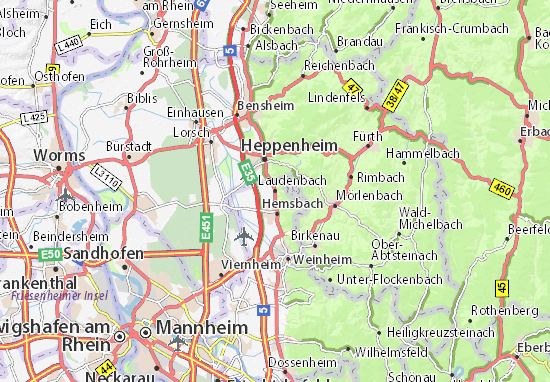 Mapa Plano Laudenbach
