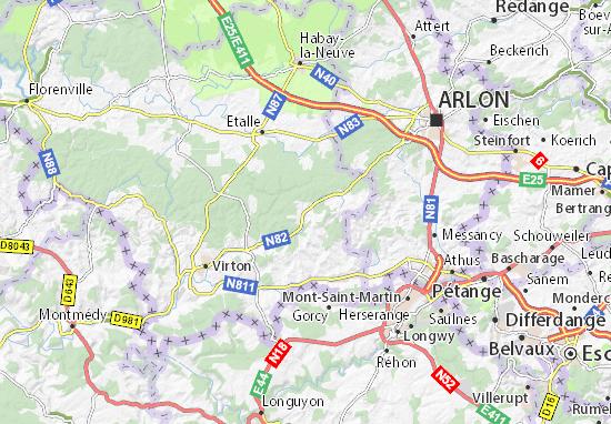 Kaart Plattegrond Saint-Léger