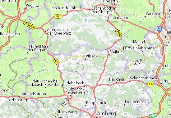 Detailed map of Vilseck - Vilseck map - ViaMichelin