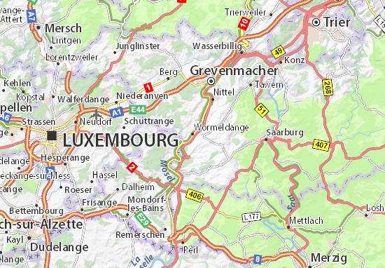 Wormeldange Map