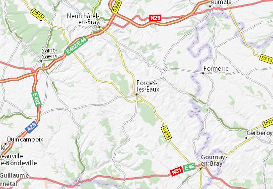 Mapa Forges-les-Eaux