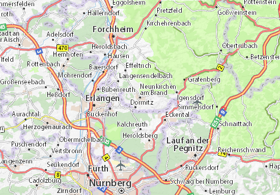 Neunkirchen am Brand Map
