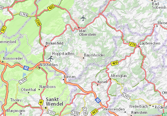 Karte Stadtplan Baumholder