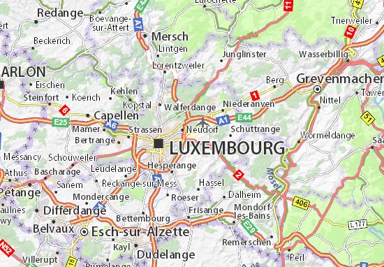 Carte-Plan Aéroport Luxembourg-Findel