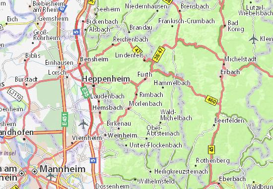 Mapa Rimbach
