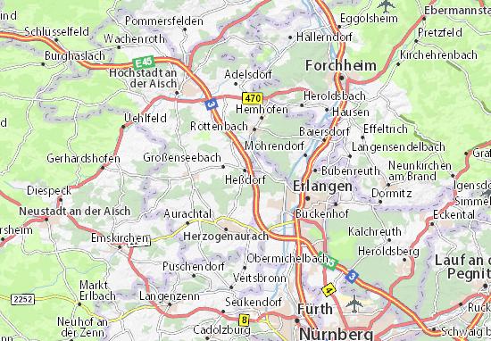 Carte-Plan Heßdorf