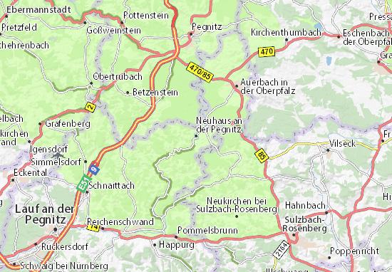 Karte Stadtplan Neuhaus an der Pegnitz