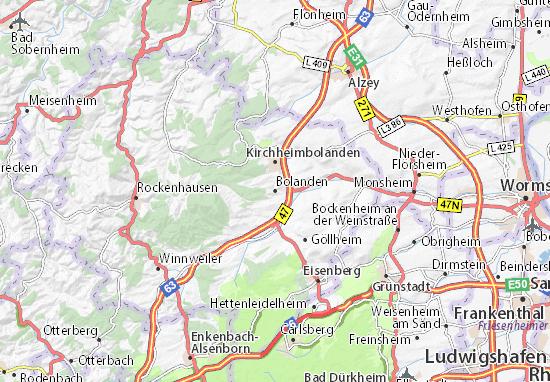 Karte Stadtplan Bolanden
