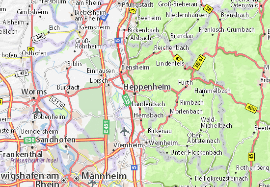 Heppenheim Map