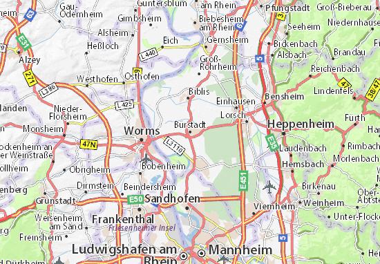 Carte-Plan Bürstadt