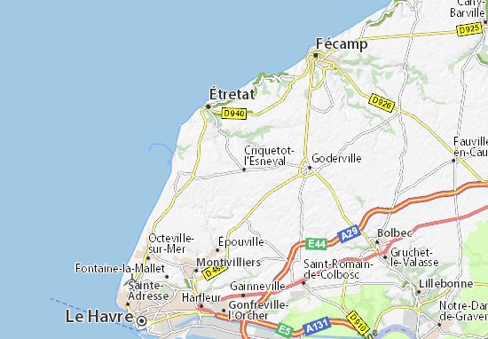 Karte Stadtplan Criquetot-l'Esneval
