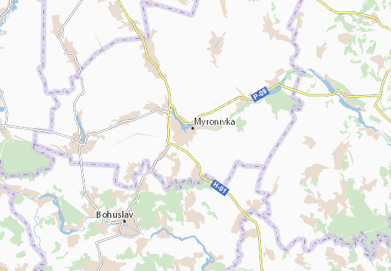 Carte-Plan Myronivka