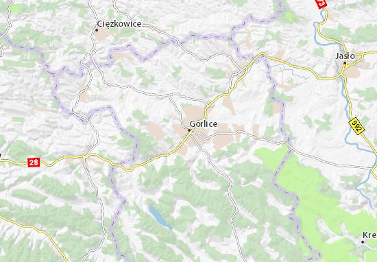 Mapa Gorlice